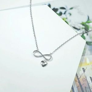 Jewelry - Sterling Silver Infinity Heart Necklace
